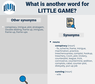 little game, synonym little game, another word for little game, words like little game, thesaurus little game