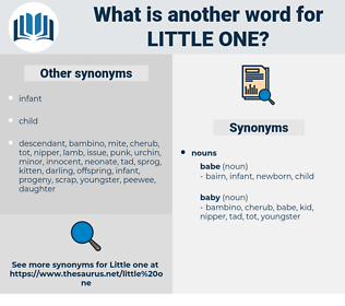 little one, synonym little one, another word for little one, words like little one, thesaurus little one