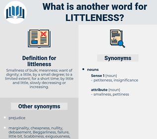 littleness, synonym littleness, another word for littleness, words like littleness, thesaurus littleness