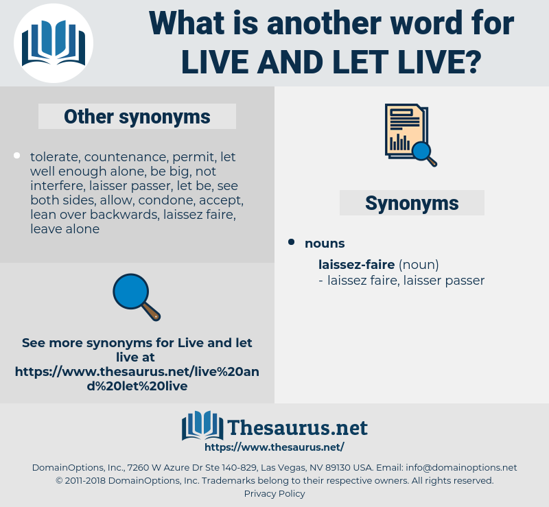 live and let live, synonym live and let live, another word for live and let live, words like live and let live, thesaurus live and let live