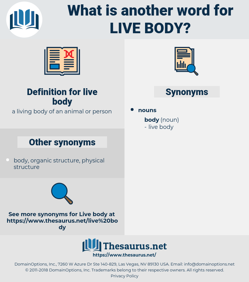 live body, synonym live body, another word for live body, words like live body, thesaurus live body