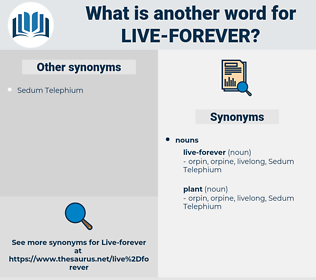 live-forever, synonym live-forever, another word for live-forever, words like live-forever, thesaurus live-forever