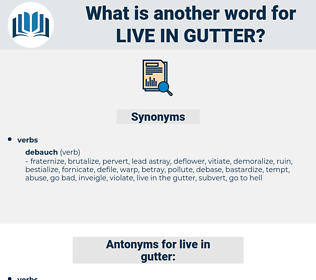 live in gutter, synonym live in gutter, another word for live in gutter, words like live in gutter, thesaurus live in gutter