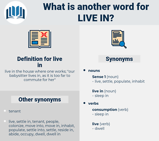 live in, synonym live in, another word for live in, words like live in, thesaurus live in