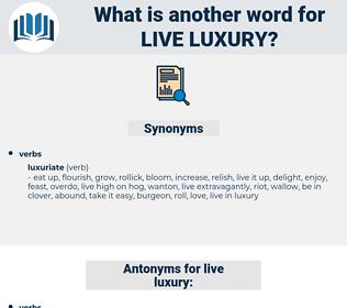 live luxury, synonym live luxury, another word for live luxury, words like live luxury, thesaurus live luxury