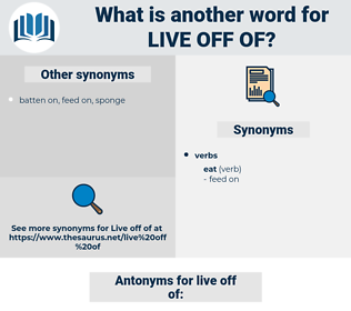 live off of, synonym live off of, another word for live off of, words like live off of, thesaurus live off of