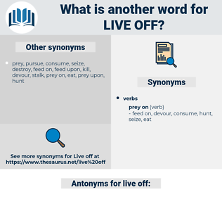 live off, synonym live off, another word for live off, words like live off, thesaurus live off