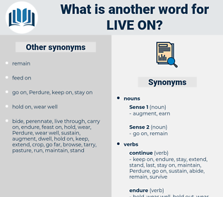 live on, synonym live on, another word for live on, words like live on, thesaurus live on