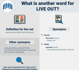 live out, synonym live out, another word for live out, words like live out, thesaurus live out