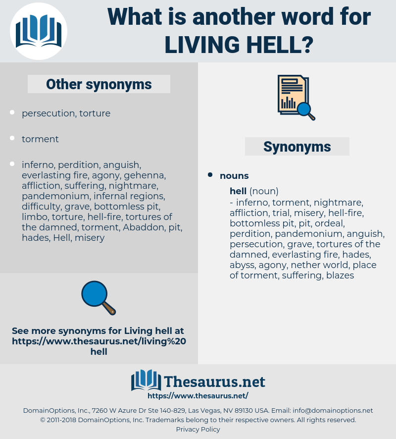 living hell, synonym living hell, another word for living hell, words like living hell, thesaurus living hell
