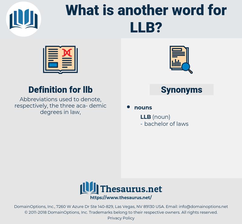 llb, synonym llb, another word for llb, words like llb, thesaurus llb