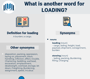 loading, synonym loading, another word for loading, words like loading, thesaurus loading