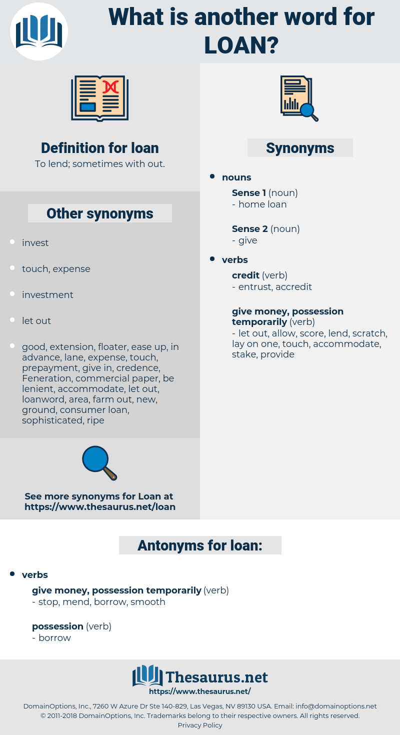 loan, synonym loan, another word for loan, words like loan, thesaurus loan