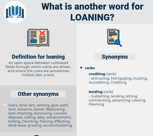 loaning, synonym loaning, another word for loaning, words like loaning, thesaurus loaning