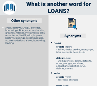 loans, synonym loans, another word for loans, words like loans, thesaurus loans