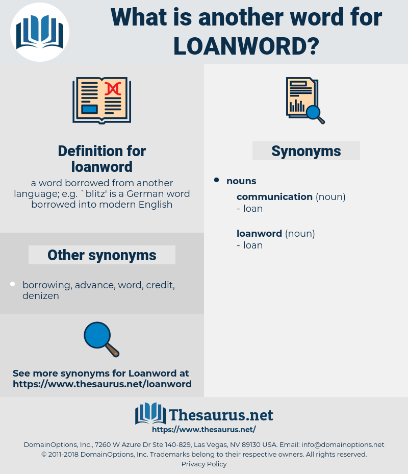 loanword, synonym loanword, another word for loanword, words like loanword, thesaurus loanword