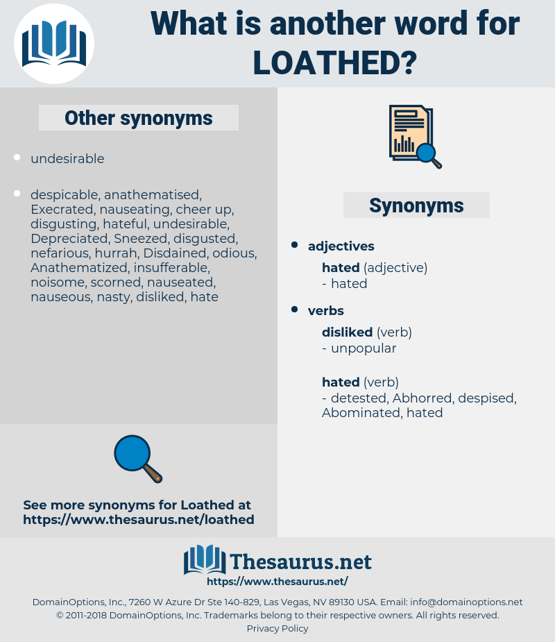 Loathed, synonym Loathed, another word for Loathed, words like Loathed, thesaurus Loathed