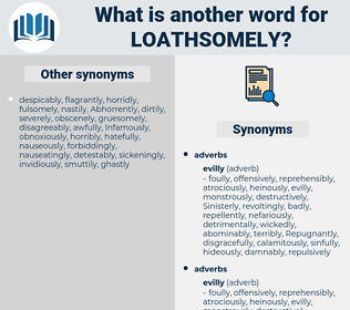 loathsomely, synonym loathsomely, another word for loathsomely, words like loathsomely, thesaurus loathsomely