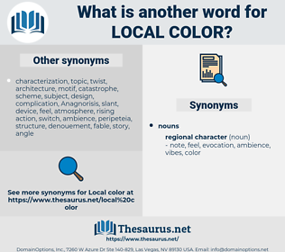 local color, synonym local color, another word for local color, words like local color, thesaurus local color