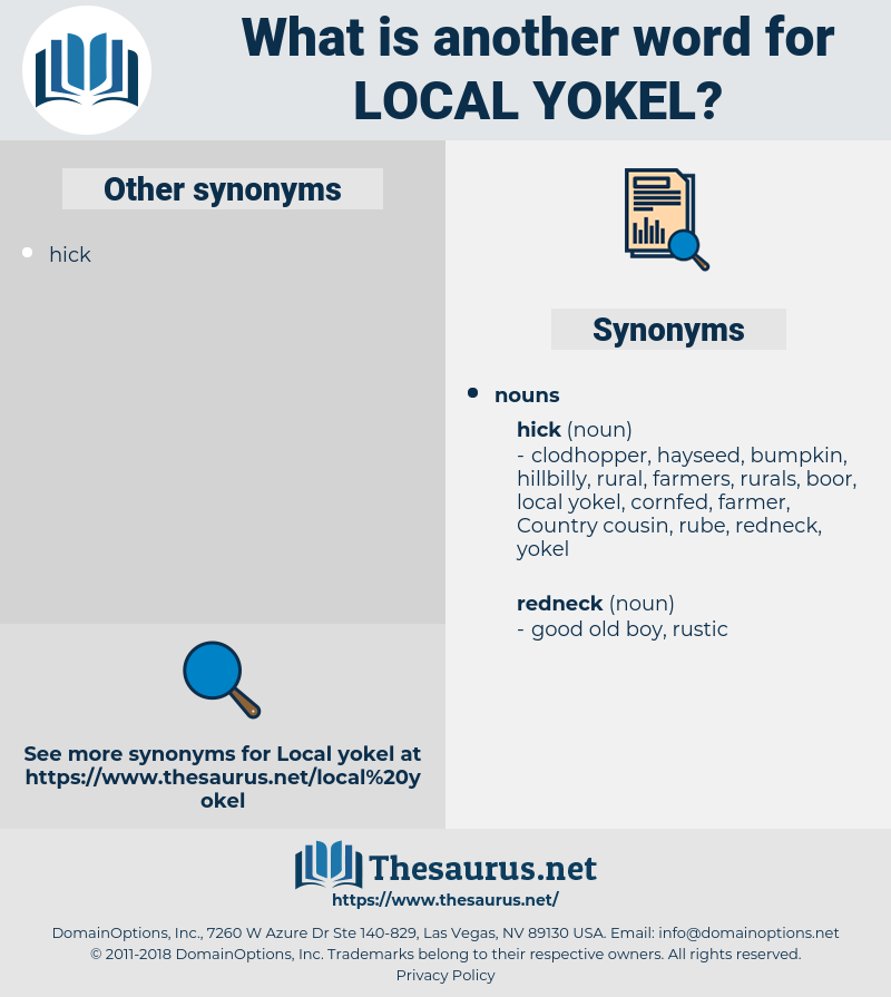 local yokel, synonym local yokel, another word for local yokel, words like local yokel, thesaurus local yokel