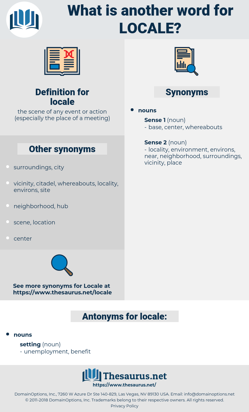 locale, synonym locale, another word for locale, words like locale, thesaurus locale