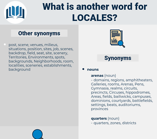Locales, synonym Locales, another word for Locales, words like Locales, thesaurus Locales