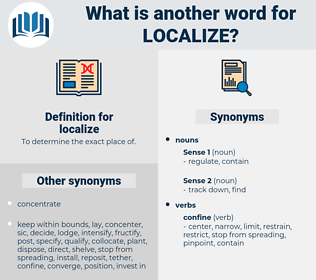 localize, synonym localize, another word for localize, words like localize, thesaurus localize