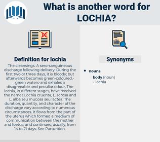 lochia, synonym lochia, another word for lochia, words like lochia, thesaurus lochia