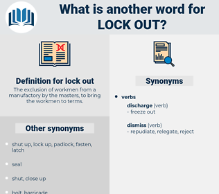 lock out, synonym lock out, another word for lock out, words like lock out, thesaurus lock out