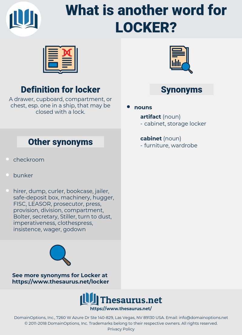 locker, synonym locker, another word for locker, words like locker, thesaurus locker