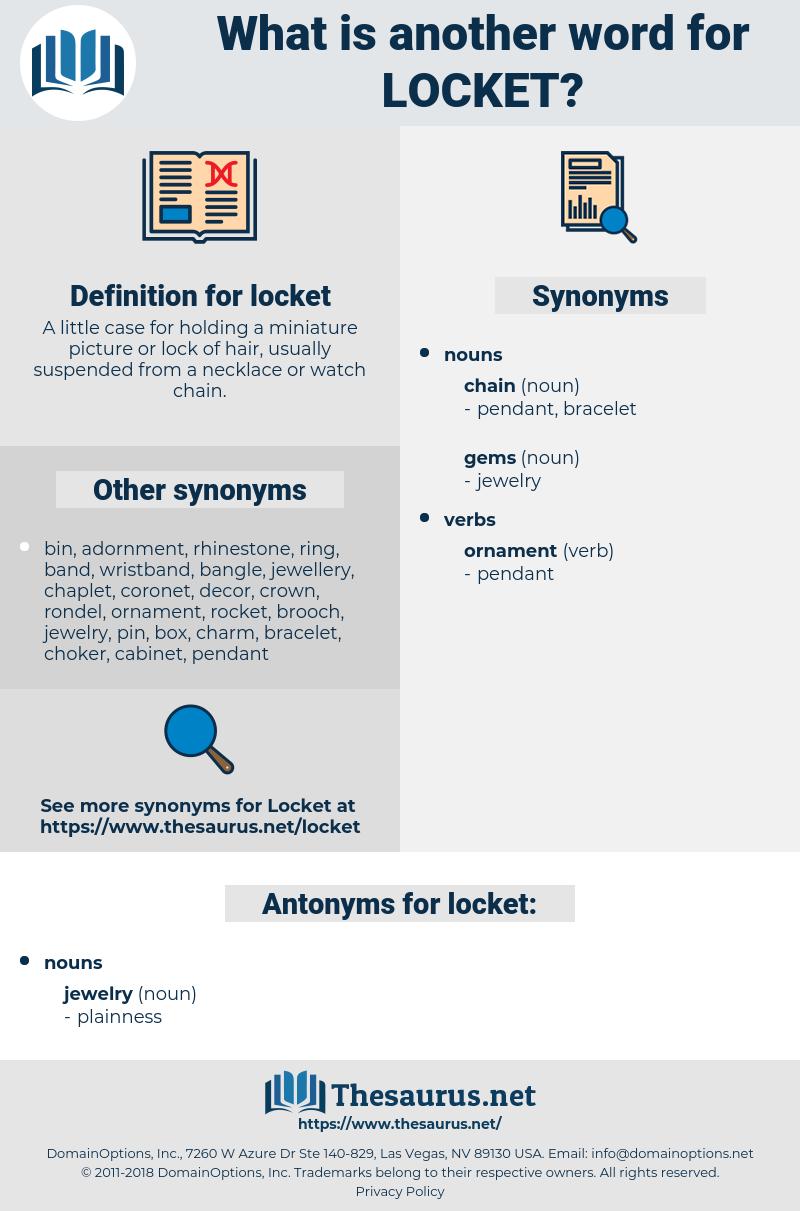 locket, synonym locket, another word for locket, words like locket, thesaurus locket