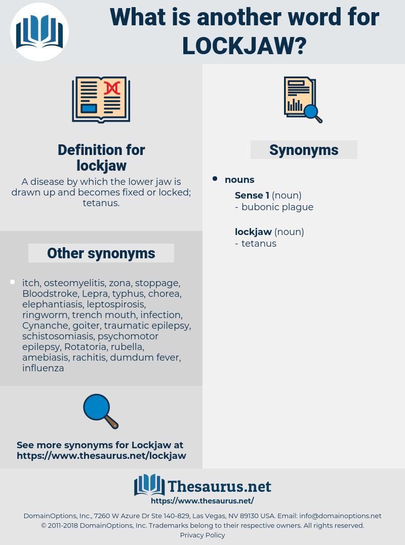 lockjaw, synonym lockjaw, another word for lockjaw, words like lockjaw, thesaurus lockjaw