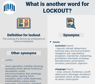 lockout, synonym lockout, another word for lockout, words like lockout, thesaurus lockout