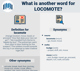 locomote, synonym locomote, another word for locomote, words like locomote, thesaurus locomote