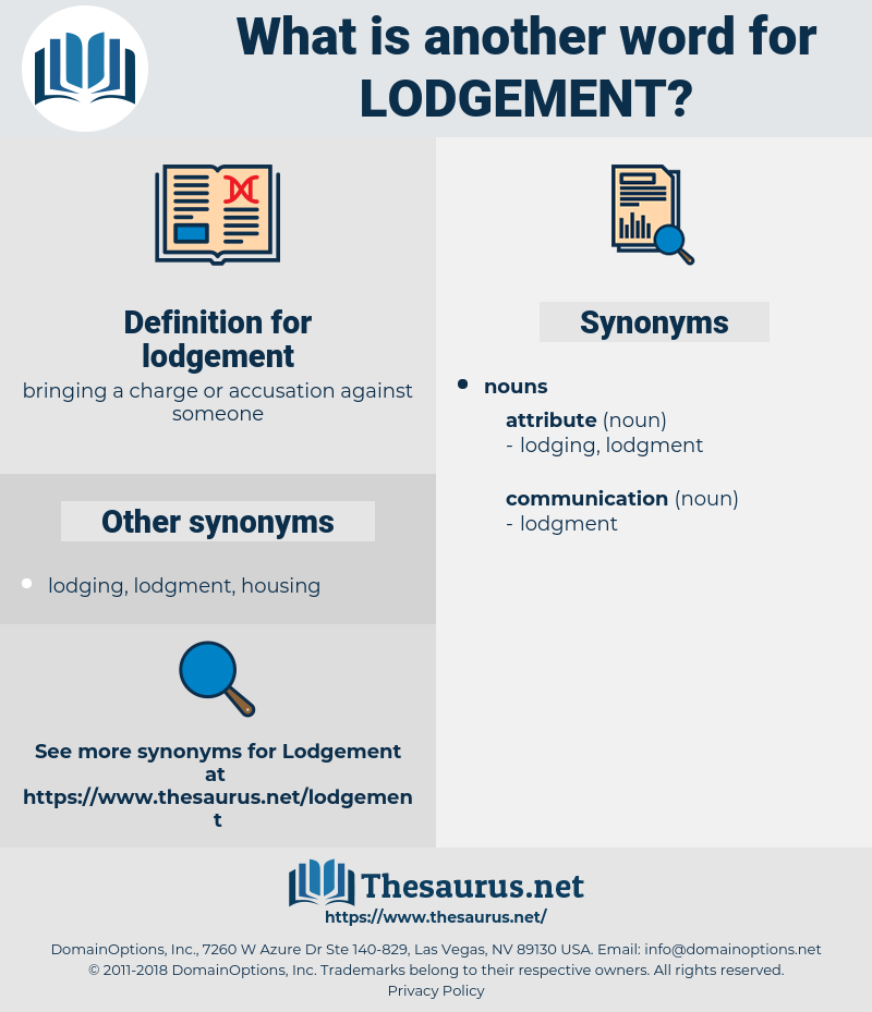 lodgement, synonym lodgement, another word for lodgement, words like lodgement, thesaurus lodgement