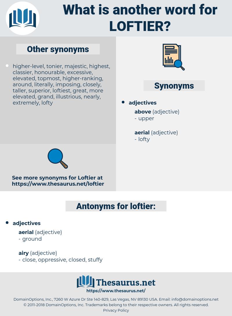 loftier, synonym loftier, another word for loftier, words like loftier, thesaurus loftier