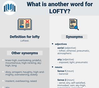 lofty, synonym lofty, another word for lofty, words like lofty, thesaurus lofty