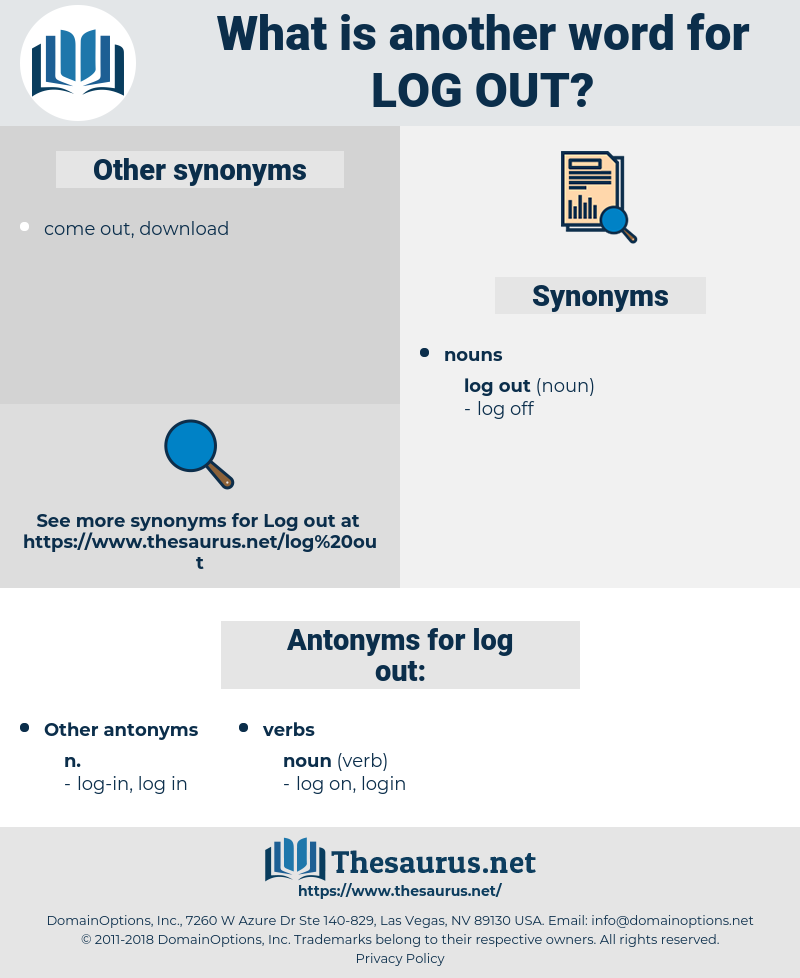 log out, synonym log out, another word for log out, words like log out, thesaurus log out