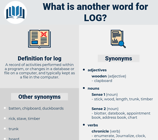log, synonym log, another word for log, words like log, thesaurus log