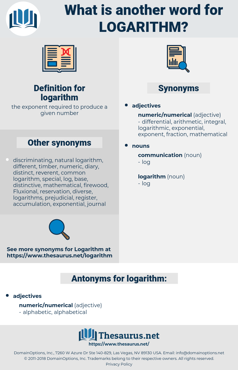 logarithm, synonym logarithm, another word for logarithm, words like logarithm, thesaurus logarithm