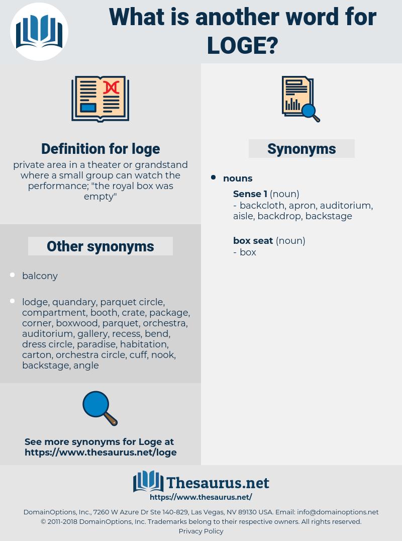 loge, synonym loge, another word for loge, words like loge, thesaurus loge
