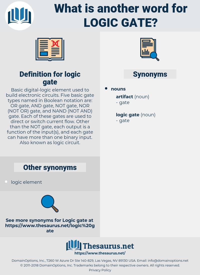 logic gate, synonym logic gate, another word for logic gate, words like logic gate, thesaurus logic gate
