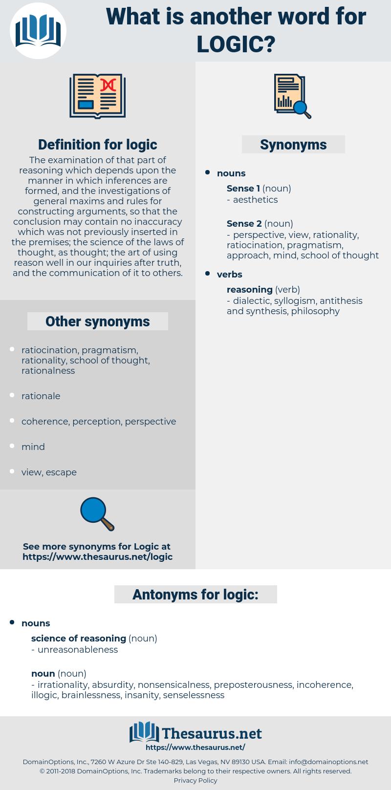 logic, synonym logic, another word for logic, words like logic, thesaurus logic