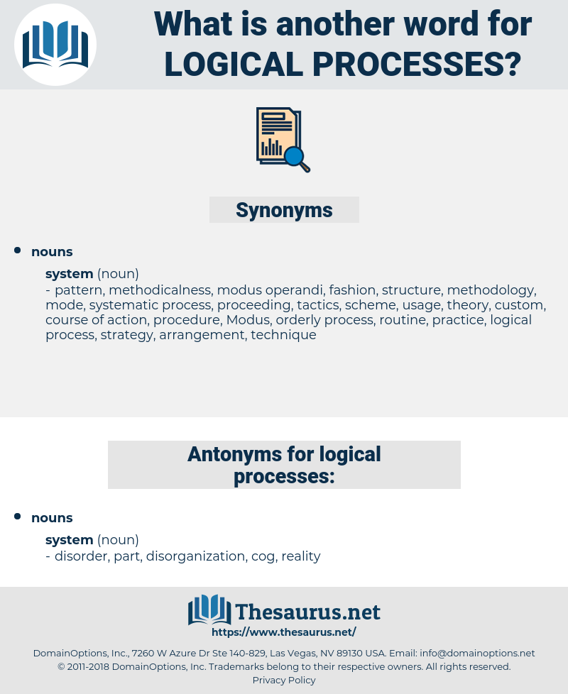 logical processes, synonym logical processes, another word for logical processes, words like logical processes, thesaurus logical processes