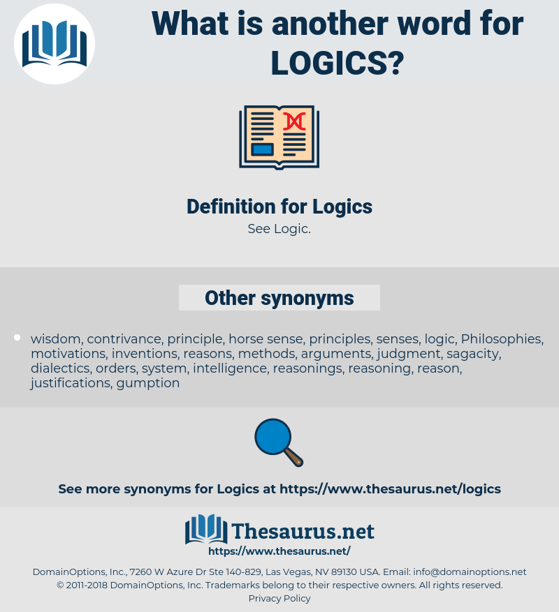 Logics, synonym Logics, another word for Logics, words like Logics, thesaurus Logics