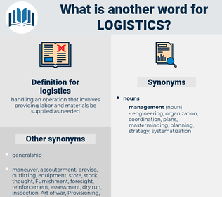 logistics, synonym logistics, another word for logistics, words like logistics, thesaurus logistics