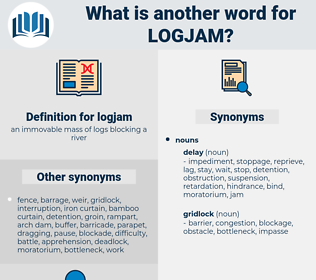 logjam, synonym logjam, another word for logjam, words like logjam, thesaurus logjam