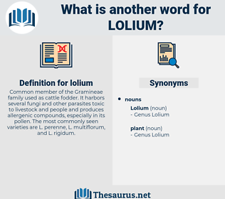 lolium, synonym lolium, another word for lolium, words like lolium, thesaurus lolium