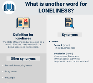 loneliness, synonym loneliness, another word for loneliness, words like loneliness, thesaurus loneliness