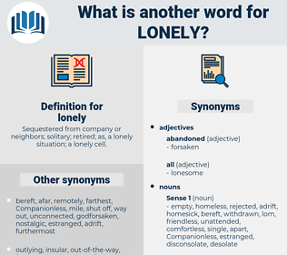 lonely, synonym lonely, another word for lonely, words like lonely, thesaurus lonely